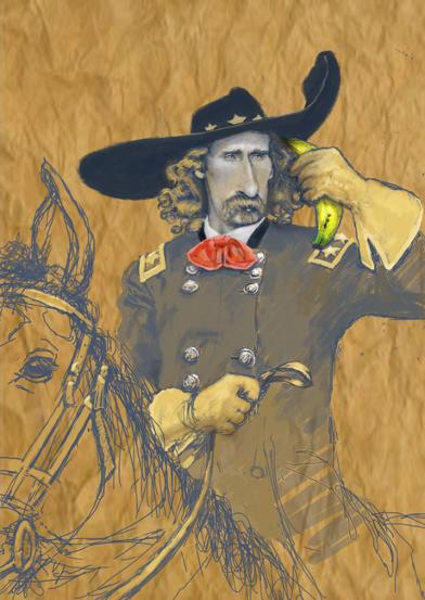 George Custer and the banana phone.  copyright John Cormican